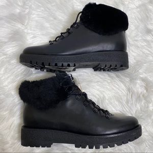 Michael Kors Putnam Shearling Leather Ankle Boots